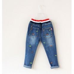Jeans cu broderie fete