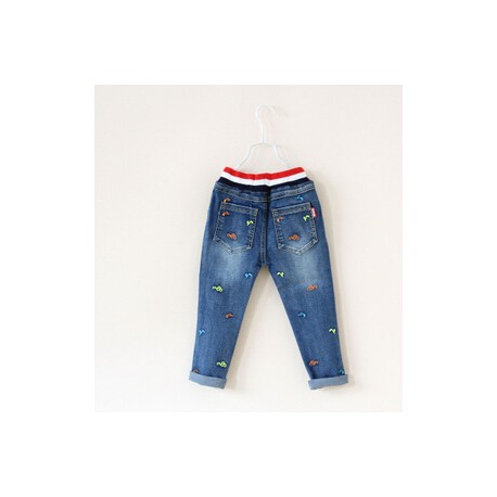 Jeans cu broderie